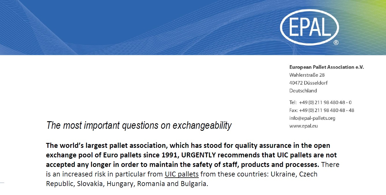 Download FAQ about EUR-EPAL pallets exchange ability