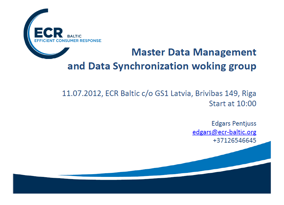 Master Data Management intro presentation
